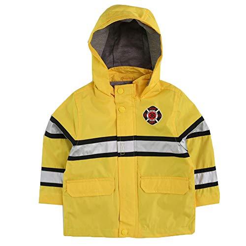 LONDON FOG Baby Boys' Little Man Rain Slicker Raincoat, Yellow Fireman, 24MO