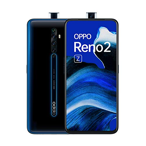 Bester der welt Oppo Reno 2 Z 128 GB Mobiltelefon, Schwarz / Blau, Schwarz leuchtend, Android 9.0 (Pie), Dual