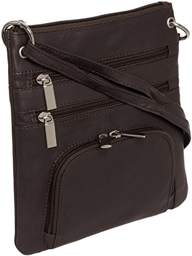 HANDCRAFTED QUALITY - Crafted from genuine leather, this Silver Lilly crossbody is carefully constructed to bring you an accessory that will stand the test of time. TRAVEL LIGHT - Compact size and lightweight design make this bag easy and comfortable...