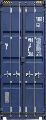 A.Monamour Türtapete Selbstklebend Türfolie Türposter 3D Blauer Fracht Container Für Transport Hintergrund Vinyl Folie Türdeko Tapete Wandbild Türaufkleber Türtattoo 90 x 200 cm