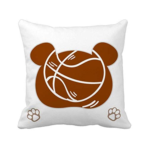 OFFbb-USA - Funda cuadrada para cojín, diseño de oso de baloncesto