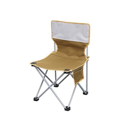 GFL Chaises Camping Chaise Pliante pêche en Plein air Portable Plage Chaise arrière Ultra-léger (A++) (Couleur : Kaki, Taille : 36 * 59cm)