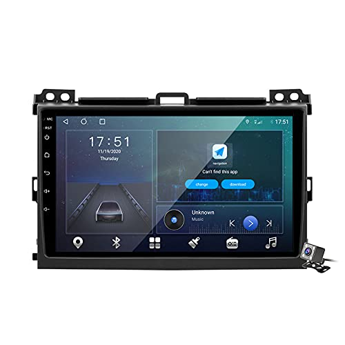 Android 10 Car Radio de Navegación GPS para Toyota Land Cruiser Prado 120 2004-2009 con 9 Pulgada Pantalla Táctil Support FM Am RDS DSP/MP5 Player/BT Steering Wheel Control/Carplay,M500
