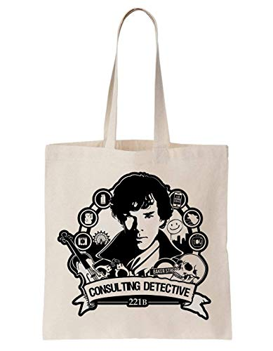 KRISSY Sherlock Holmes Consulting Detective Schultertasche Tote Bag