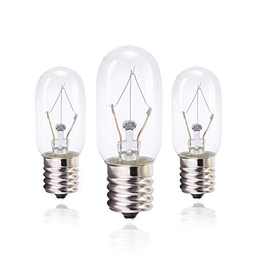40 Watt Appliance Bulb, Clear 40 Watt Microwave Bulb GE WB36x10003 - Microwave Light - Fits Most GE and Whirlpool Ovens, E17 Base Bulb - Pack of 3