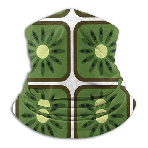 SLHFPX Neck Gaiter Face Mask Cute Square Kiwi Half Balaclava Ski Masks for Women Men Adult