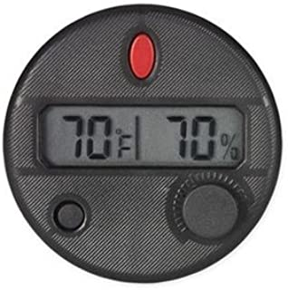 NEW HYGROSET - ROUND FRONT MOUNT DIGITAL HYGROMETER FOR CIGAR HUMIDOR BOX - QI