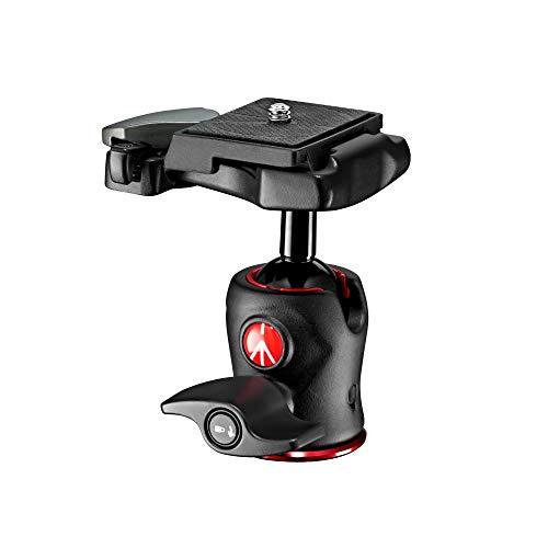 Manfrotto 490 Kugelkopf mit 200LT-PL Schnellwechselplatte (geeignet für kleine DSLR/CSC, Kompaktkamera, LED, Monitor, Action-Kameras und Zubehör, MH490-BH, Traglast: 4kg, Gewicht: 190 g)