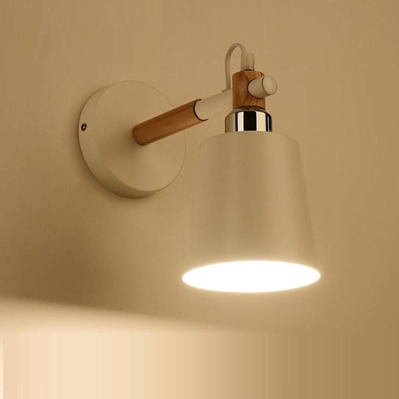 OwentsWall Lampe Nordic Creative Original Holz Lampe Schlafzimmer Japanische Nachttischlampe Einfache Wohnzimmer Gang Massivholz Moderne Wandleuchte
