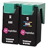 INK INSPIRATION Remanufacturados para Lexmark 14 & 15 Cartuchos de Tinta compatibles con Lexmark Z2300 Z2310 Z2320 X2600 X2620 X2630 X2650 X2670 | Negro/Tricolor, Alta Capacidad