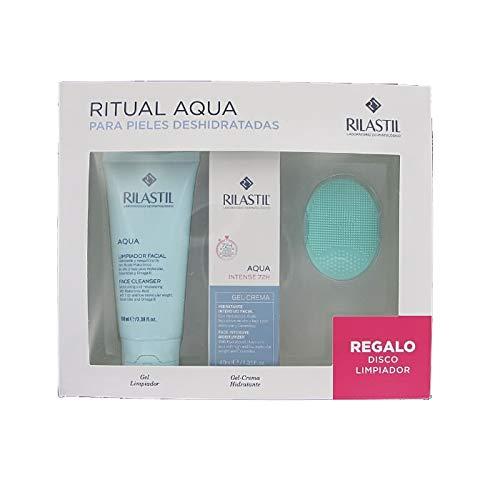 Rilastil Gel Crema Aqua Intense 72H, 40 ml+ Limpiador Facial, 100ml+REGALO Disco Limpiador
