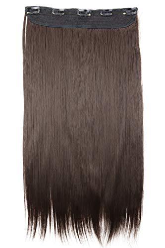 PRETTYSHOP Clip In Extensions Haarverlängerung Haarteil Glatt 60cm brünett #10 C70