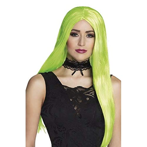 Boland 85997 - Parrucca da Strega, Colore: Verde Fluo