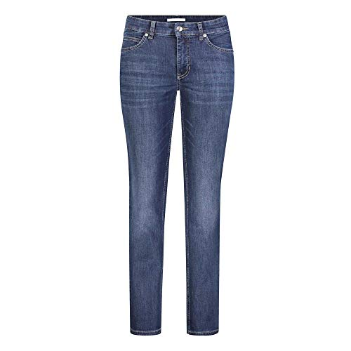 MAC Jeans Damen Melanie Straight Jeans, Blau (Dark Blue D845), W44/L32