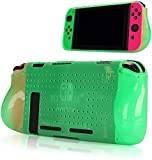 Protective Case Compatible with Switch, Grip Cover Case with Shock-Absorption and Anti-Scratch Design Soft & Comfortable TPU Case for Switch Console (Green)