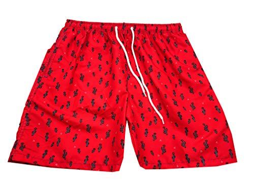 Mermaid Bañador Hombre Shorts, Traje de Baño para Jovenes, Bañador Short Playa para Natación, Piscina, Playa Secado Rápido, Tallas M
