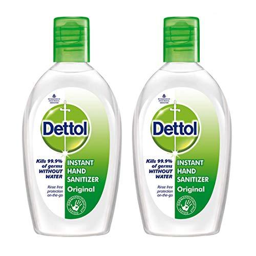 Dettol Hand Sanitizer (Pack of 2) (50ml Each)