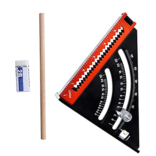 Herramienta de diseño extensible plegable regla cuadrada multiángulo medición carpintería diseño aleación de aluminio calibradores Vernier