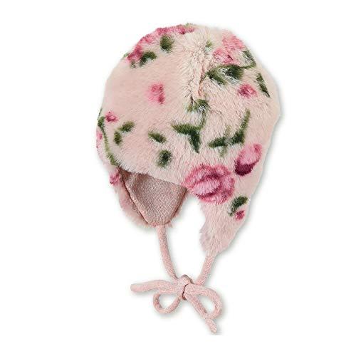 Sterntaler Inka-Mütze für Mädchen mit Blumen-Motiv, Alter: 3-4 Monate, Größe: 39, Helllila
