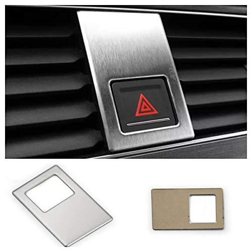 FFZ Parts 5479 Cache pour interrupteur de détresse en acier inoxydable pour VW Golf 7 GTI GTD R Club Sport TDI TSI