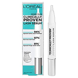 L'Oreal Paris Clinically Proven Lash Serum for Stronger, Thicker-looking lashes with Castor Oil and Hyaluronic Acid (B07QB3HK8X) | Amazon price tracker / tracking, Amazon price history charts, Amazon price watches, Amazon price drop alerts