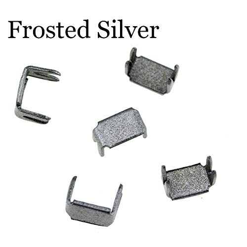 HUAI 3 5 8 10# Nylon Rits Tailor Gereedschap Stopper for het inzetten van ritsen Reparatie Accessoires Metal Stopper 5 kleuren 30pcs (Color : Frosted Silver, Size : 10#)