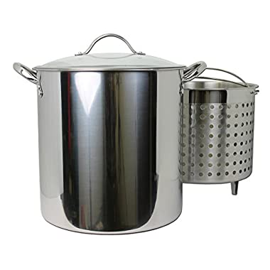 Kitchen Collection 30 Quart Stainless Steel Steamer Stock Pot 03007