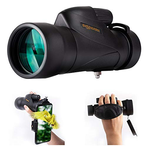 Great Deal! SOLOMARK 12X50 High Definition Monocular Handheld Waterproof Monocular-Bak4 Prism Fmc fo...