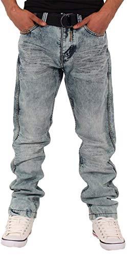 Peviani Lincoln Star Denim Straight Fit, jeans da uomo, blu ghiaccio Blu ghiaccio. 30W x 33L