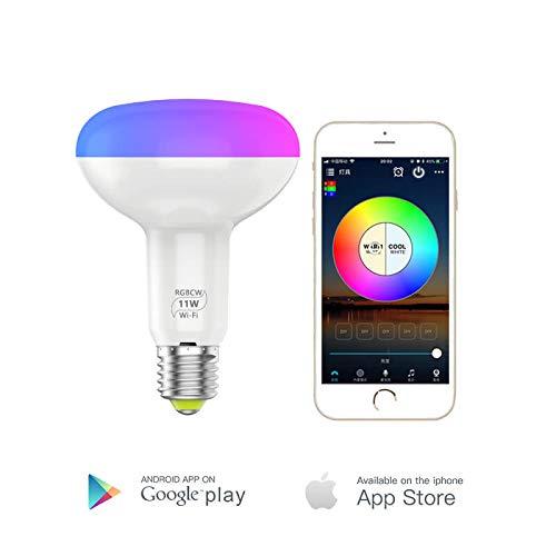 Lipa B32516 11W WiFi Smart Lamp / 16 Million Farben/Fernbedienung/Gruppenzugang/mehr Lampen einfügen über die App/Voice control/Timer/Mikrofon