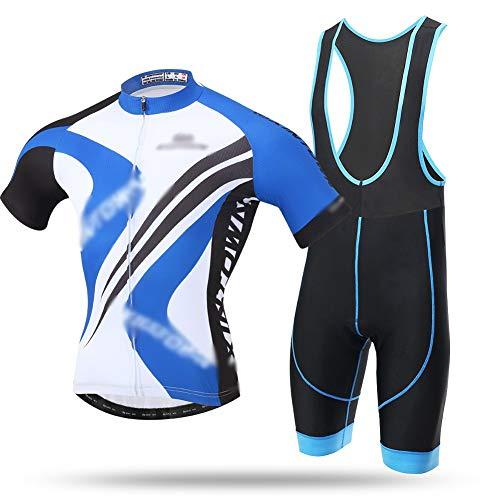 GONGMICF Hombre Traje Ciclismo,Ropa Ciclismo Que Absorbe El Sudor Maillot Ciclismo +...