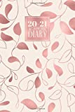 2020 - 2021 Academic Diary: Daily Mid Year Student Planner Lined Writing Journal | A5 Full Day on a Page to View DO1P Aug 20 - Jul 21 | Rose Gold Leaves Vines (2020 - 2021 A5 Academic Daily Diaries)