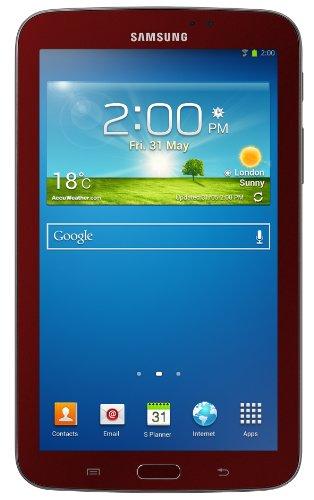 Samsung Galaxy Tab 3 Garnet Red Tablet Bundle (7-Inch, 8 GB) 2013 Model