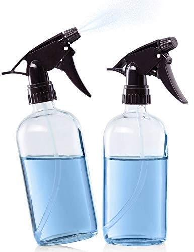 Bclaire® Sprühflasche [2 x] - perfekte Dichtung | Zerstäuber & Strahl Funktion