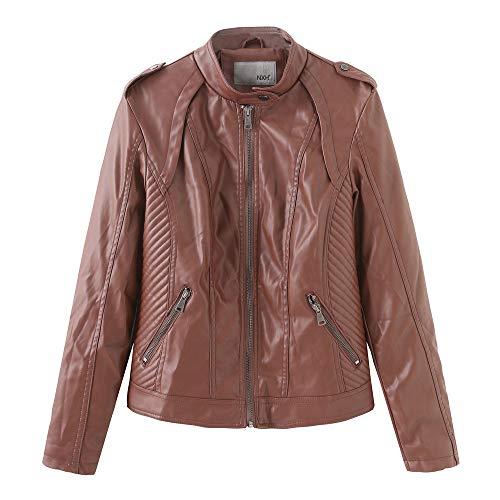 ZFQQ Damen Lederjacken Damen Lederjacken Slim Jacken Damen Motorradbekleidung Jacken