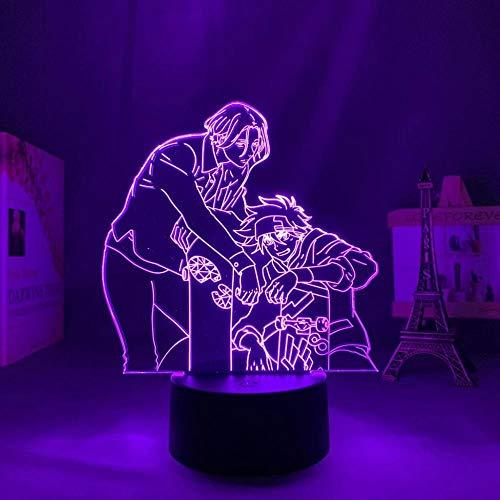 Lámpara LED 3D ilusión ilusión lámpara de escritorio japonesa luz SK8 de Infinity lamp,para niños dormitorio decoracion nocturna regalo de cumpleaños gadget