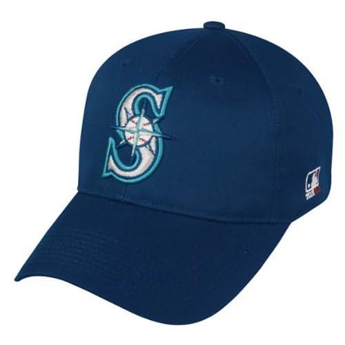 los angeles 7278f d96b1 Amazon.com   Seattle Mariners ADULT Adjustable Hat MLB Officially Licensed Major  League Baseball Replica Ball Cap   Sports Fan Baseball Caps   Clothing