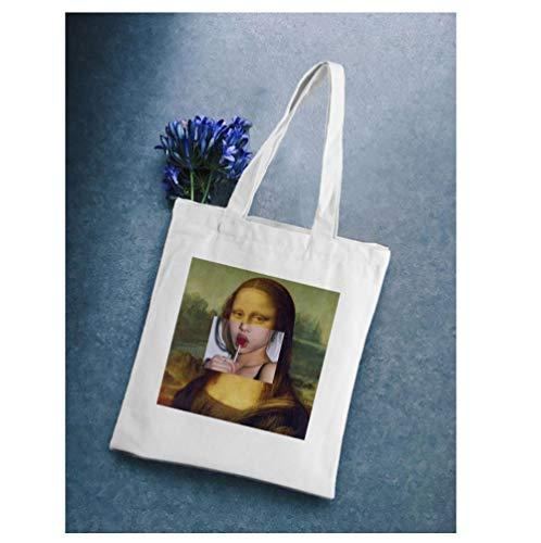 ZKPYY Print grote capaciteit zomer schoudertas canvas vrouwen boodschappentas milieuvriendelijke boodschappentas 35 * 38 cm
