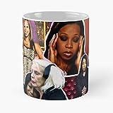 Tiffany Pollard Collage Montage Flavorette Celebrity Memes Reality Tv Puns Banter Jokes Funny Moments Gift Ideas Good Vibes Classic Mug Best Ceramic 11oz Coffee Mugs