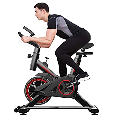 Tengma Exercise Bike Indoor Cycling Bike Fitness Stationary All-Inclusive Flywheel Bicycle with Resistance for Gym Home Cardio Workout Machine Training New Version Professional