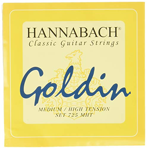 Hannabach 652727 Klassikgitarrensaiten Serie 725 Medium / High Tension Goldin - Satz