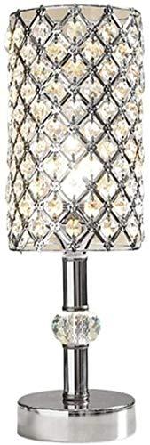 gengxinxin Lámpara de Mesa lámpara de Mesa de Cristal Plateado lámpara de mesilla de diseño...