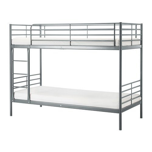Ikea Twin Size Bunk Bed Frame Silver Color 10210 142329 1616 Buy Online In Hong Kong At Desertcart Hk Productid 38157315