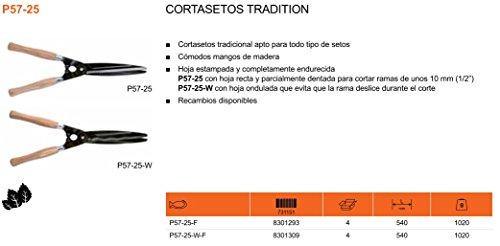 Ciseaux pour élagage Bahco P57 - 25. Poignées de bois