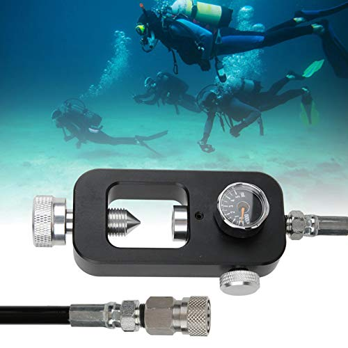 SALUTUYA Compression Resistant Diving Oxygen Tank Adapter All Stainless Steel,for Large And Small Oxygen Conduct(S-02 scuba adapter)