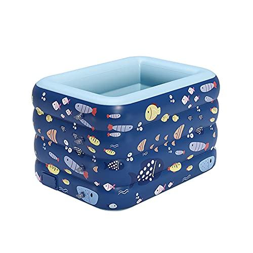 Piscina Infantil Inflable, Piscina Engrosada De Cuatro Capas, Área De Juegos Privada para Bebés, Piscina De Baño Plegable para El Hogar (Azul, Rosa)
