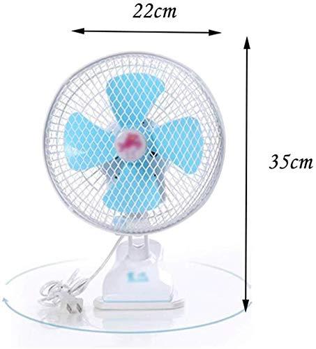 Draagbare ventilator Wandventilator - 8-inch slaapzaal Student Fan Bedside Fan Mini Fan Clip Fan Hoofd schudden Household Desk Fan Fan Wandventilator Silent Timing Blue elektrische ventilator fan cool