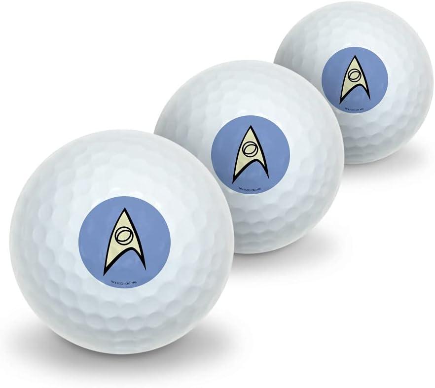 Ranking TOP20 GRAPHICS MORE Star Trek Science Shield Golf Rapid rise Balls Pa 3 Novelty