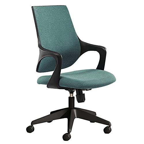 LWZ Ergonomischer Bürostuhl Bequemer, drehbarer Rollstuhl mit höhenverstellbarem Computerstuhl mit mittlerer Rückenlehne für das Home Office, blau/orange