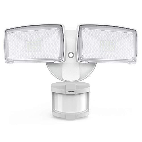 LEPOWER 28W LED Security Lights Motion Sensor Light Outdoor, 3000LM Flood Light Dusk to Dawn, 6000K,...